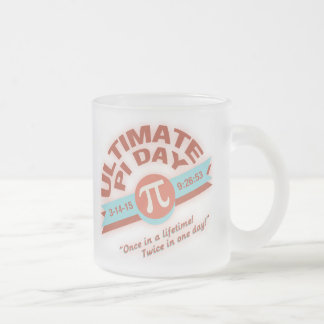 Pi Day Once or Twice Frosted Glass Mug