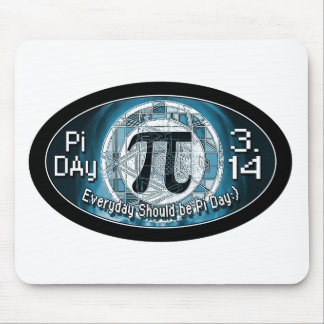 Pi Day Oval Designs Mouse Pad