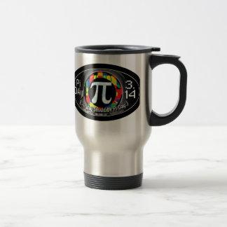 Pi Day Oval Designs Travel Mug