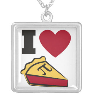 Pi Day Party Square Pendant Necklace