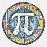 Pi Day Pi Symbols Classic Round Sticker