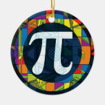 Pi Day Pi Symbols Double-Sided Ceramic Round Christmas Ornament