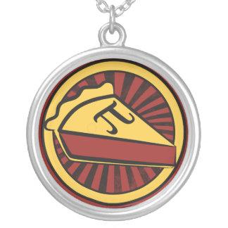 Pi Day Pie Round Pendant Necklace