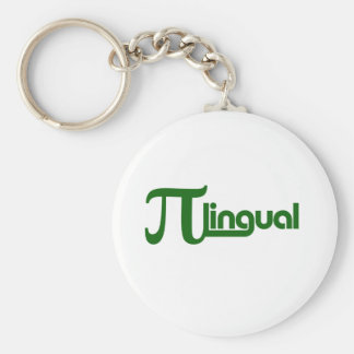 Pi Day Pilingual Basic Round Button Keychain