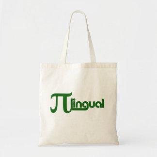 Pi Day Pilingual Budget Tote Bag