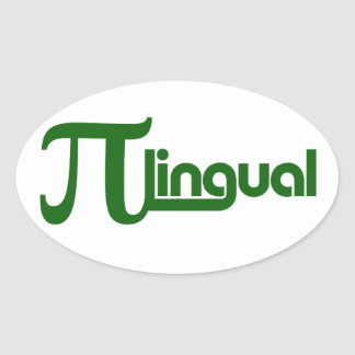 Pi Day Pilingual Oval Sticker