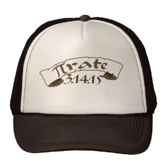 Pi day pirate 2015 trucker hat