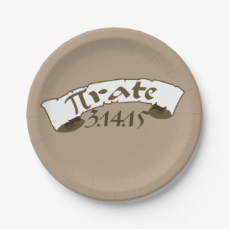 Pi day pirate 2015 paper plate