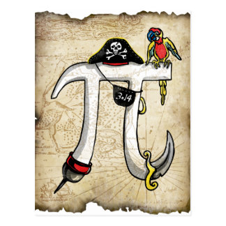 Pi Day Pirate Postcard