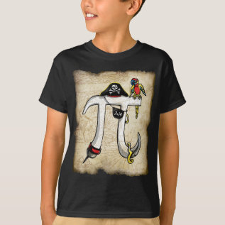 Pi Day Pirate T-shirt at Zazzle