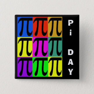 Pi Day Pop Art Pins