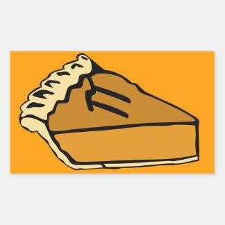 Pi Day Pumpkin Pie Rectangular Sticker