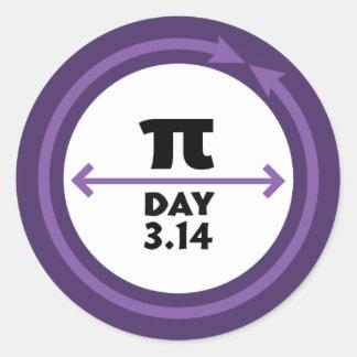 Pi Day Purple Sticker