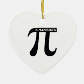 Pi Day SALE ~ March 14th Madness Double-Sided Heart Ceramic Christmas Ornament