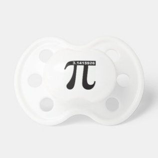 Pi Day Sale ~ March 14th Madness Pacifier at Zazzle