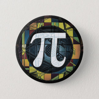 Pi Day Symbol Design dk Button
