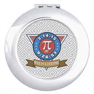Pi Day Symbol for Math Nerds Compact Mirror