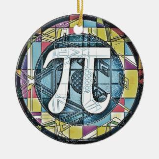 Pi Day Symbol Rounds Ceramic Ornament