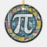 Pi Day Symbol Rounds Christmas Ornaments