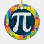 Pi Day Symbol Rounds Christmas Tree Ornaments