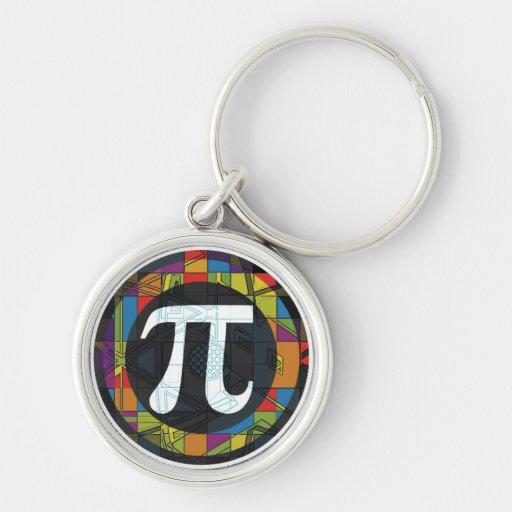 Pi Day Symbol Rounds Keychain