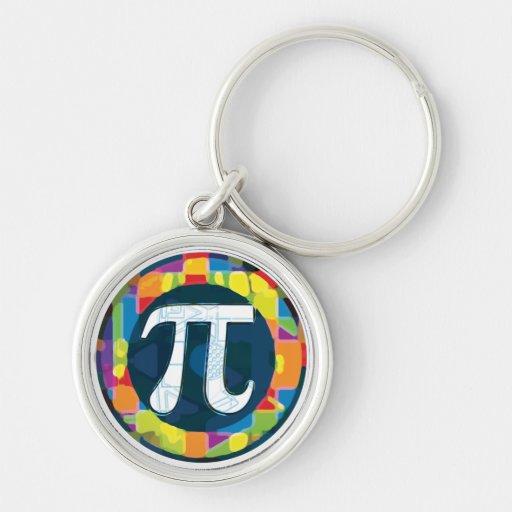 Pi Day Symbol Rounds Key Chain