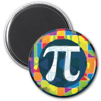 Pi Day Symbol Rounds 2 Inch Round Magnet