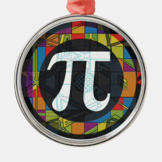 Pi Day Symbol Rounds Metal Ornament