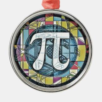 Pi Day Symbol Rounds Metal Ornament
