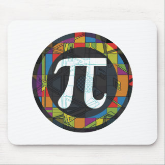 Pi Day Symbol Rounds Mouse Pad