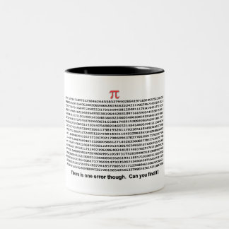 Pi Day Two-Tone Coffee Mug