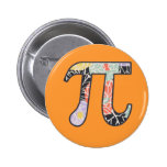 Pi Day Vintage Shabby Chic Button