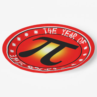 Pi Day - Year of Pi  3/14/15 9:26:53 9 Inch Paper Plate