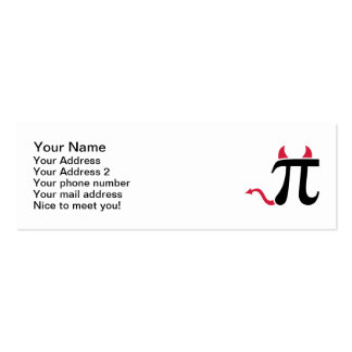 Pi devil Double-Sided mini business cards (Pack of 20)