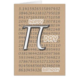 Pi día cumpleaños 3,14 14 de marzo feliz tarjeta de felicitación