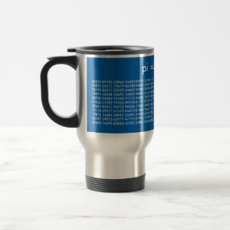 pi Digits Math Love Mug Blue