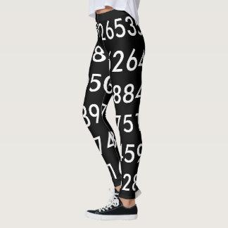 pi Digits Math Love pi= 3.14159 pi Day black white Leggings
