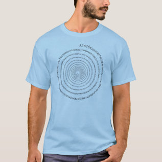 Pi Digits Spiral (black Text) T-shirt at Zazzle