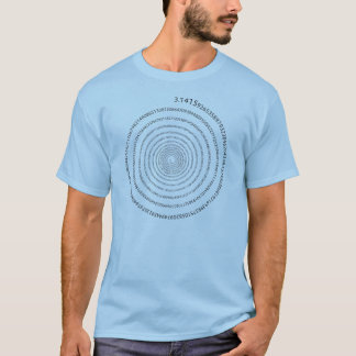 Pi Digits Spiral (black text) T-Shirt