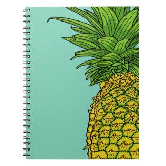 Pi el pinepple spiral notebooks