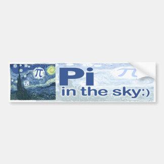 Pi en el cielo por los estudios de Mudge Pegatina De Parachoque