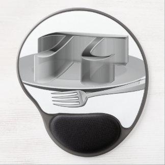 Pi en un disco de plata alfombrilla gel
