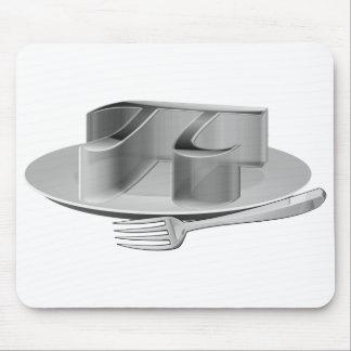 Pi en un disco de plata alfombrilla de ratón