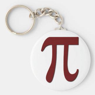 Pi - Engranaje divertido de la matemáticas Llavero Redondo Tipo Pin