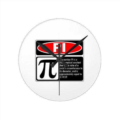 Pi Explanation Wall Clocks