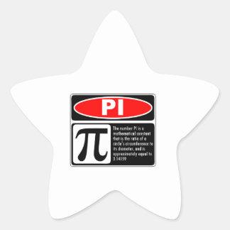 Pi Explanation Star Sticker
