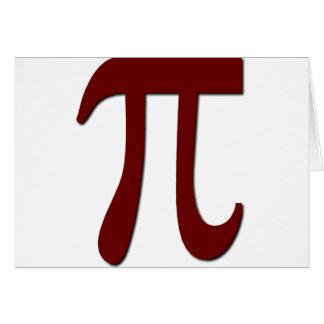 Pi - Funny Math Gear Card