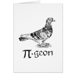 PI-geon Stationery Note Card