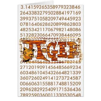 PI-GER TIGER STRIPED SEXY PI!   3.14 CARD