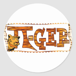PI-GER TIGER STRIPED SEXY PI!   3.14 CLASSIC ROUND STICKER